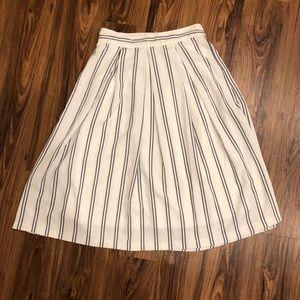 JOA Mid Length Stripe Skirt
